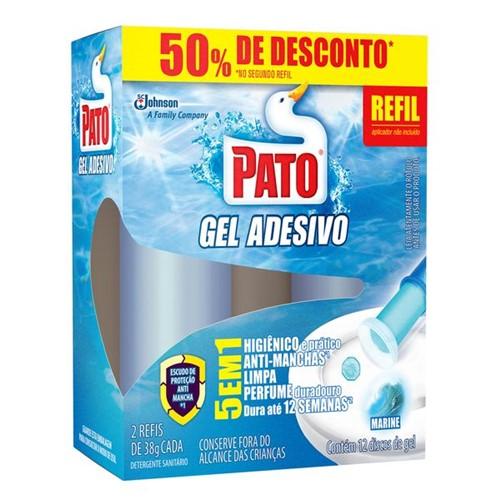 Gel Adesivo Sanit Pato Refil 50% Desconto 2 Unidade Marine