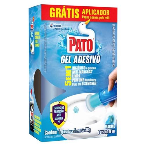 Gel Adesivo Sanitário Pato 6 Discos Marine Grátis Aplicador