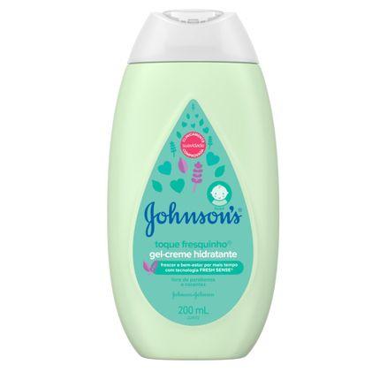 Gel-Creme Hidratante Infantil Johnson's Baby Toque Fresquinho 200ml