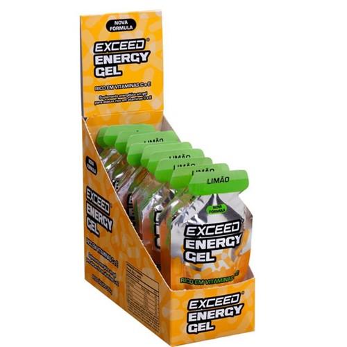 Gel de Carboidrato Exceed Energy Gel Limão Caixa com 10 Unidades