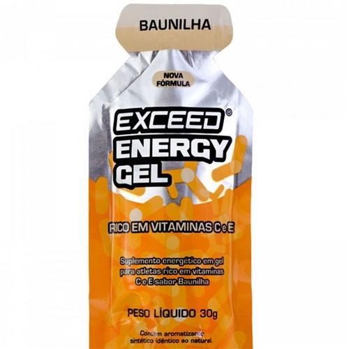 Gel de Carboidrato Exceed Energy Gel Vanilla 1 Unidade