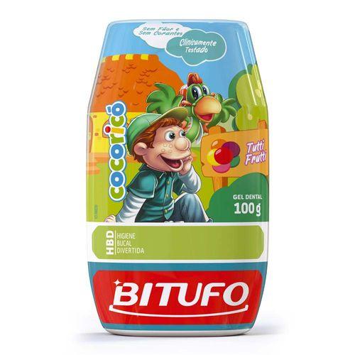 Gel Dental Bitufo Cocoricó Sem Flúor 100g