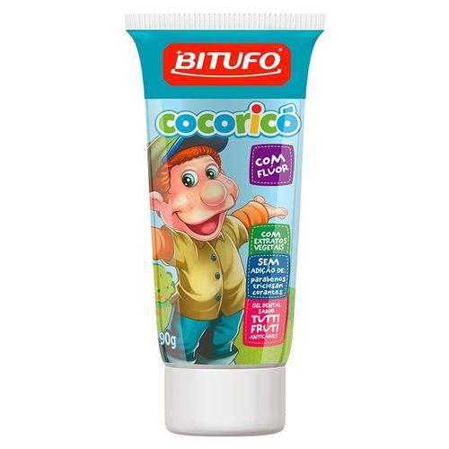 Gel Dental Bitufo Cocoricó Tutti Fruti com Flúor 90g