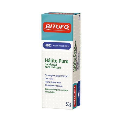 Gel Dental Bitufo Hálito Puro - para Halitose 50G