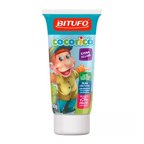 Gel Dental Infantil Cocoricó com Flúor Tutti-Frutti 90g