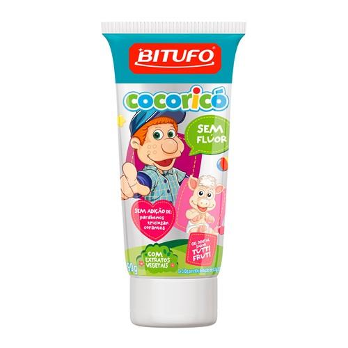 Gel Dental Infantil Cocoricó Sem Flúor Tutti-Frutti 90g