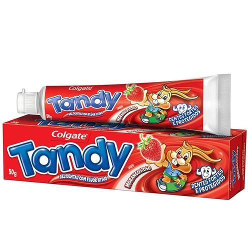 Gel Dental Infantil Tandy com Flúor Ativo Sabor Morangostoso 50g