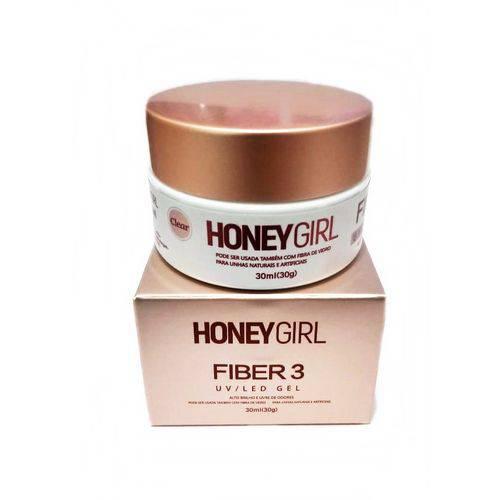 Gel Honey Girl Fiber3 Clear Construção de Unha em Gel 30gr