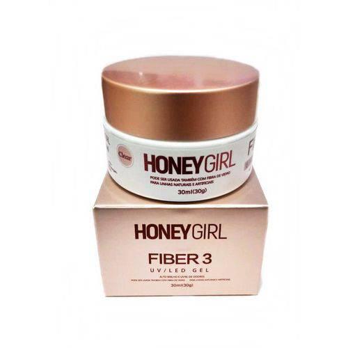 Gel Honey Girl Fiber3 Clear Construção de Unha em Gel Fibra Acrigel 30gr