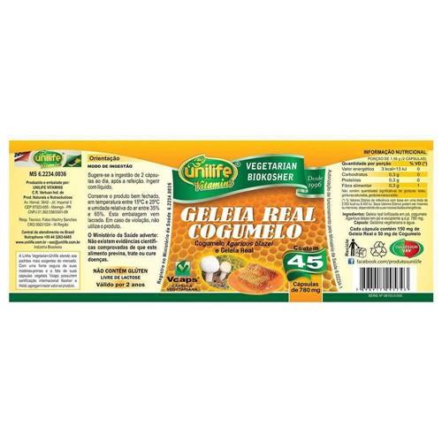 Geleia Real com Cogumelo 45 Capsulas