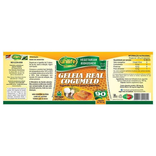 Geleia Real com Cogumelo 90 Capsulas