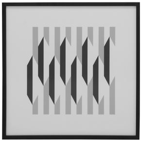Geometry I Quadro 55 Cm X 55 Cm Branco/preto
