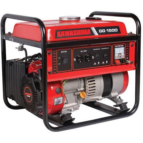 Gerador de Energia a Gasolina 4T 1500Kw 110V Kawashima Gg1500