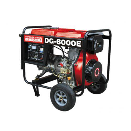 Gerador de Energia Kawashima DG 6000-E 5 KVA Diesel / Monofásico / Bivolt