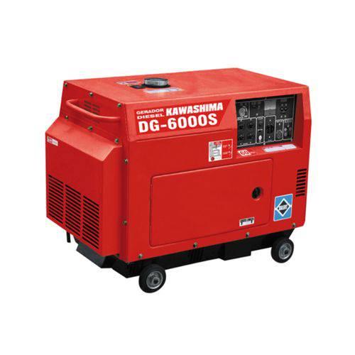 Gerador de Energia Kawashima DG 6000-S 5 KVA Diesel / Monofásico / Bivolt