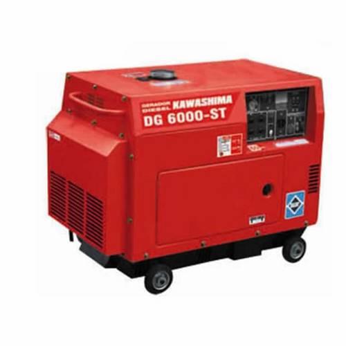 Gerador de Energia Silencioso Diesel 5 Kva 10hp Trifásico 220v Cabinado Preparado Ats - Kawashima