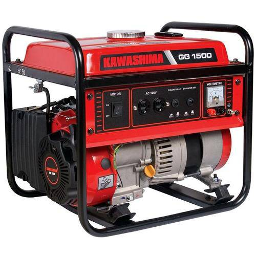 Gerador Kawashima Gg1500-220, a Gasolina, 1,2kw Mono 220v/60hz C/B