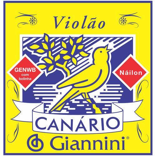 Giannini Corda Violão Genwb Canário com Bolinha Nylon Média