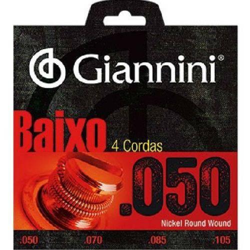 Giannini - Encordoamento de Baixo 4 Cordas 0.050/0.105 Geebrsx4