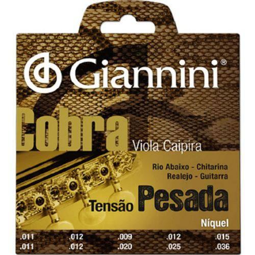 Giannini - Encordoamento de Viola Níquel Tensão Pesada Gesvnp
