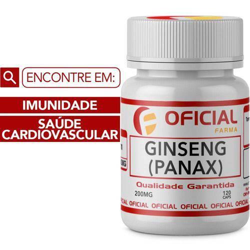 Ginseng (Panax) 200Mg 120 Cápsulas