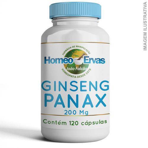 Ginseng Panax 200mg 120 Cápsulas