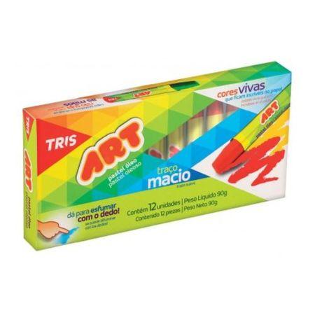 Giz Art Pastel Oleoso 12 Cores Tris