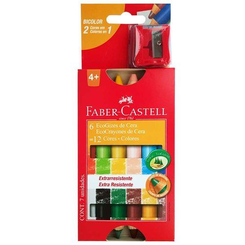 Giz de Cera 12 Cores Bicolor Faber Castell 1012569