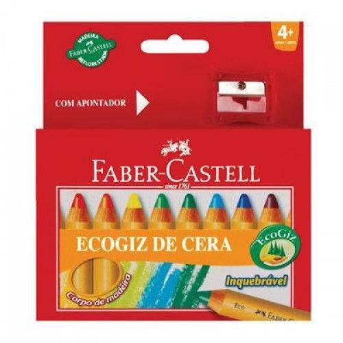 Giz de Cera 12 Cores Ecogiz Bicolor Faber Castell