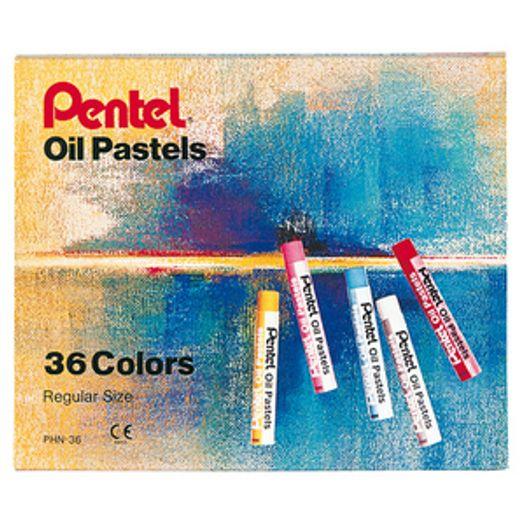 Giz de Cera 36 Cores Pastel Oleoso Phn-36 Pentel