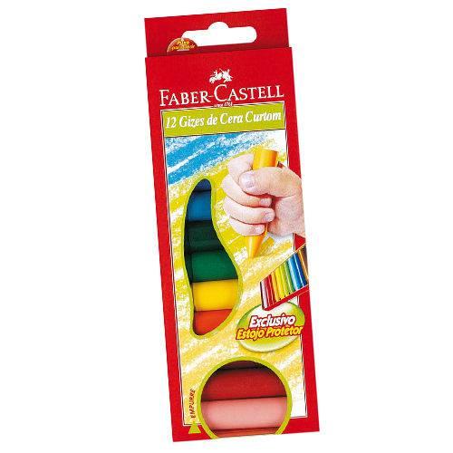 Giz de Cera Curto 15 Cores Curtom Pct.C/06 Faber-Castell