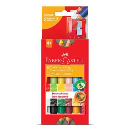 Giz de Cera Ecogiz - HT141412 - com 12 Cores - Faber-Castell