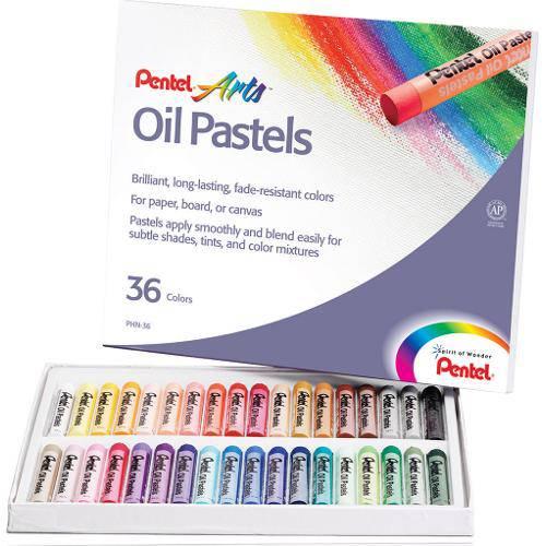 Giz Pastel Oleoso Estojo C/36 Cores Pentel