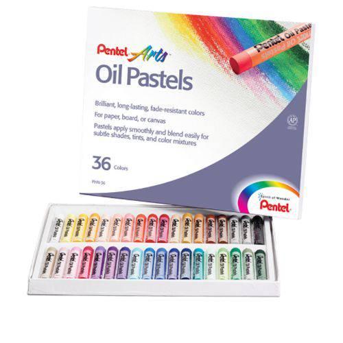 Giz Pastel Oleoso Pentel 36 Cores Phn-36