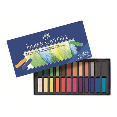 Giz Pastel Seco Curto Faber Castell Creative Studio com 24 Cores