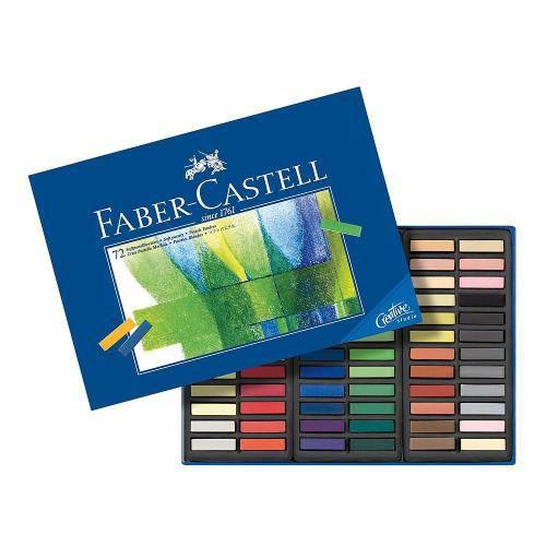 Giz Pastel Seco Curto Faber Castell Creative Studio com 72 Cores