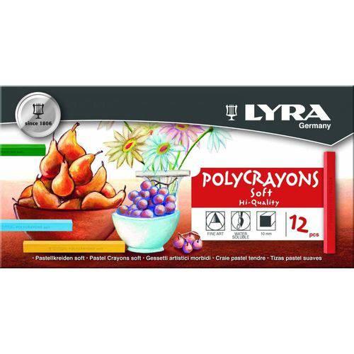 Giz Pastel Seco Lyra 12 Cores