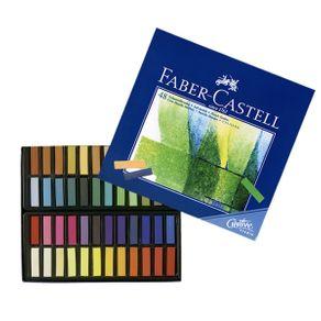 Giz Pastel Seco Macio Curto Quadrado Goldfaber Estojo com 48 Cores Ref.128248 Faber-Castell
