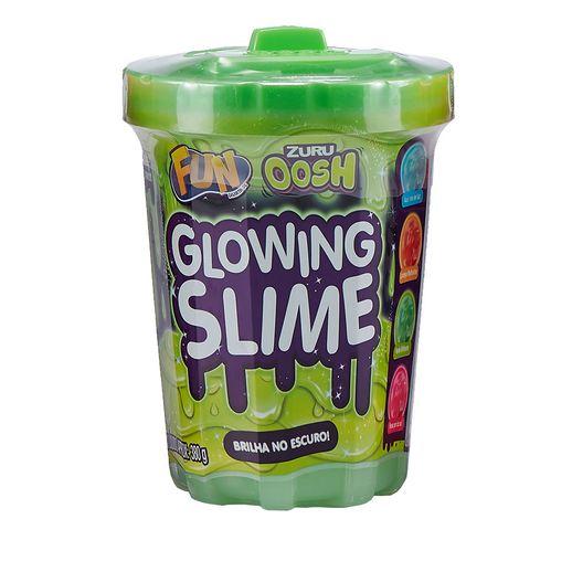 Glowing Slime Brilhante Verde Brilha no Escuro 330g - Fun Divirta-se