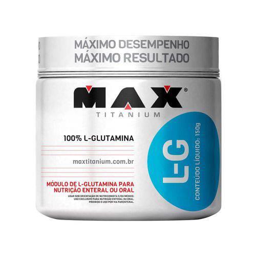 Glutamina L-G Pote 150g - Max Titanium