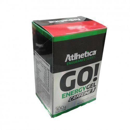 Go Energy Gel Caffeine - 10 Sachês de 30g Morango com Limão - Atlhetica