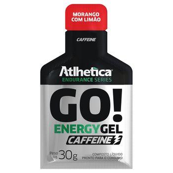 GO! Energy Gel Caffeine 10 Sachês Morango com Limão - Atlhetica Nutrition