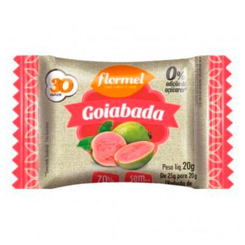 Goiabada Flormel Zero Adição Açúcar 20g