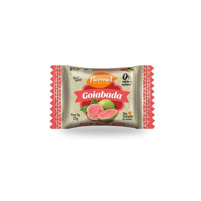 Goiabada Zero Adição de Açúcar 25g - Flormel