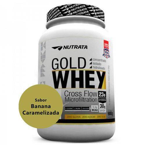 Gold Whey com Proteína Concentrada Isolada Hidrolisada Sabor Banana Caramelizada 900g - Nutrata