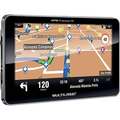 GPS Automotivo Multilaser Tracker III Tela 7' com TV Digital