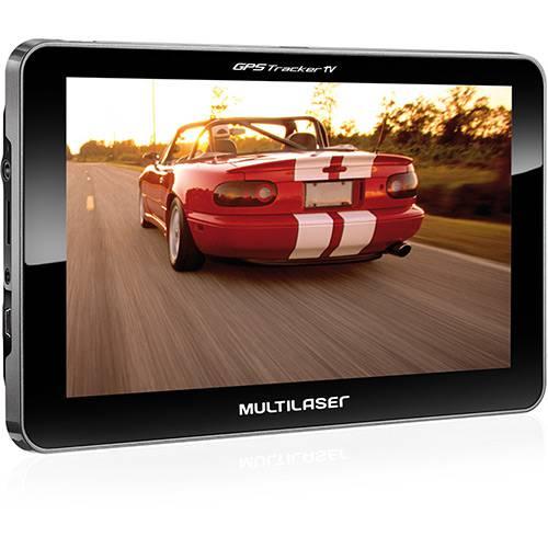 """GPS Multilaser GPO15 Tracker Tela 7"""" - TV Digital, Função TTS (fala o Nome das Ruas), Mp3 e Mp4 Player"""
