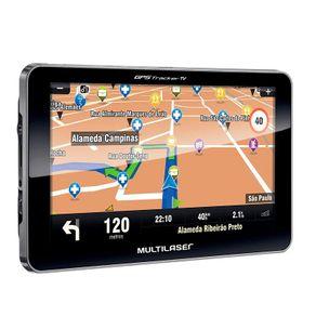 "GPS Multilaser Tracker III Tela 7"" TV Digital GP038 Preto"