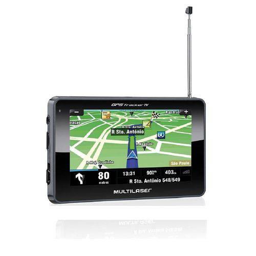 Gps Multilaser Tracker 3 Tela 4.3 Touch com Fm e Tv Digital - Gp034
