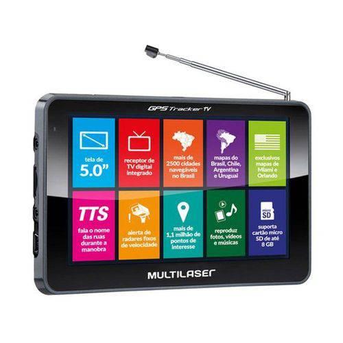Gps Tracker Multilaser 5.0, Tv Digital, Rádio Fm - Gp036
